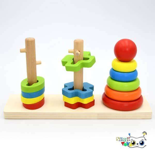 قیمت بازی مونته سوری چوبی مستطیل اشکال هندسی