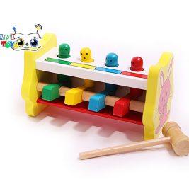 بازی کوبه پرتابی چکش و آدمک چوبی