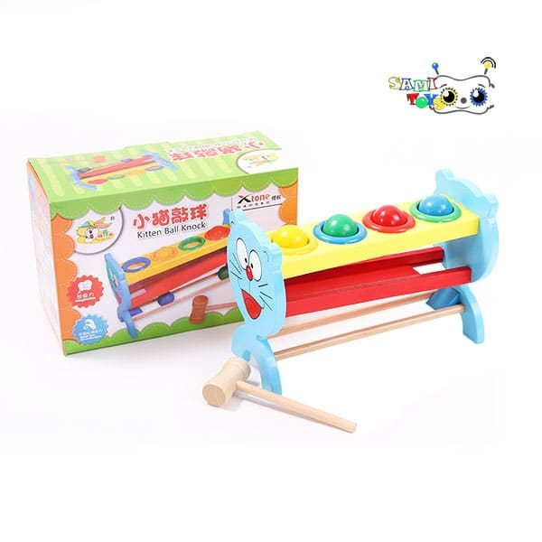 اسباب بازی کوبه سرسره چوبی