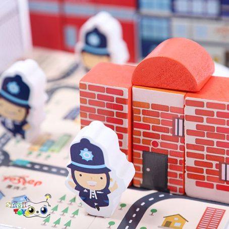 بلوک های ساختنی شهر پلیسی