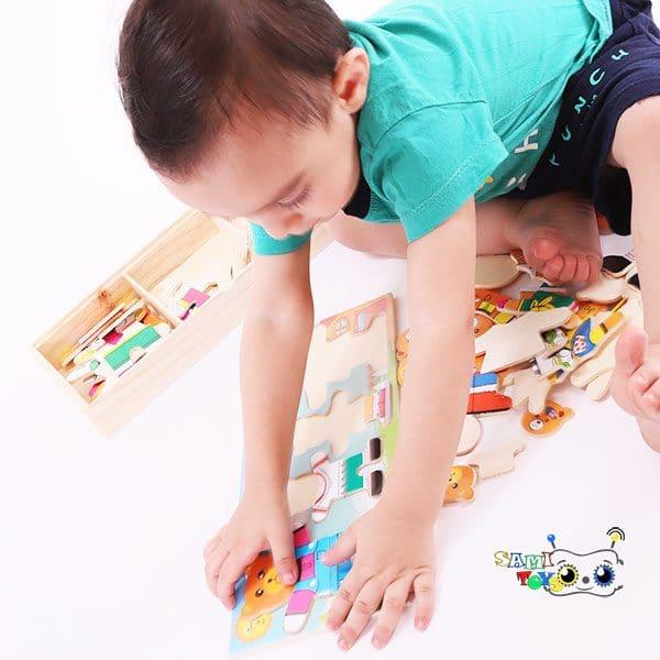 پازل چوبی جورچین خانواده خرسی ۴ تایی