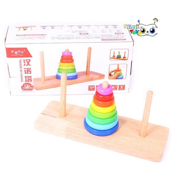 اسباب بازی برج هانوی چوبی