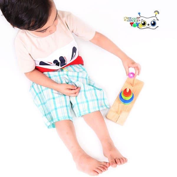 خرید اسباب بازی برج هانوی چوبی