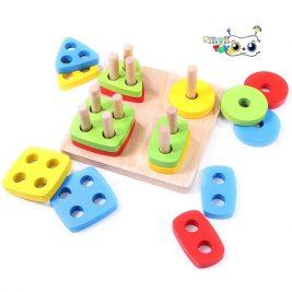 بازی آموزشی مونته سوری شمارش مربع