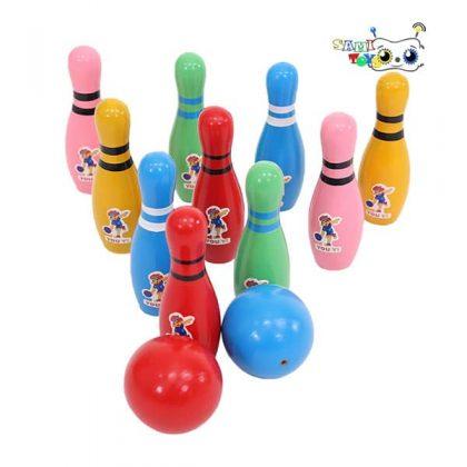 اسباب بازی بولینگ چوبی مدل یویی