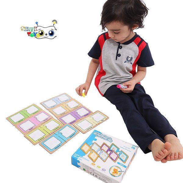 اسباب بازی پازل کارت جادویی رنگ آمیزی