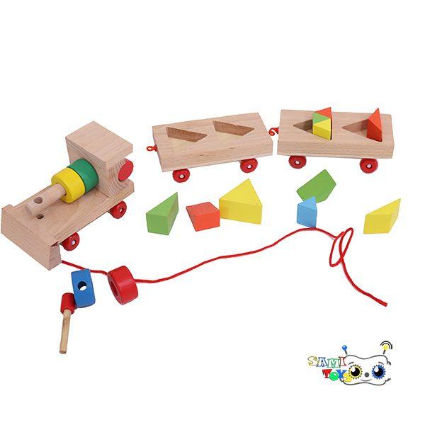 فروش اینترنتی قطار چوبی مونته سوری مثلث