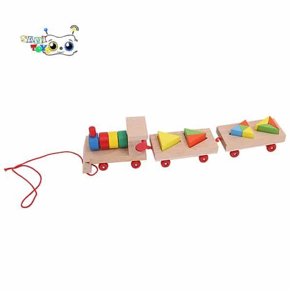 خرید بازی قطار چوبی مونته سوری مثلث
