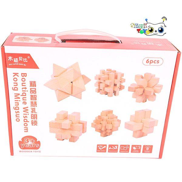 پازل سه بعدی چوبی Kong Ming Suo