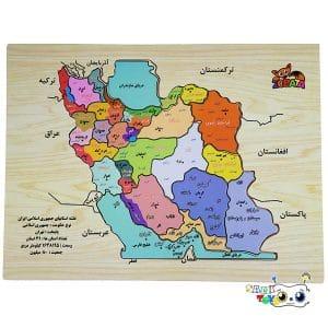 پازل چوبی نقشه ایران