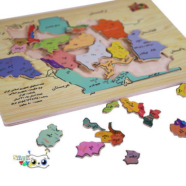 فروش اینترنتی پازل چوبی نقشه ایران