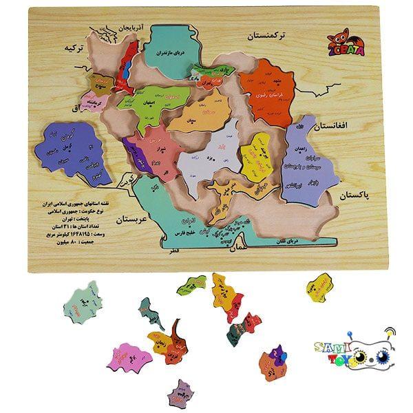 خرید پازل چوبی نقشه ایران