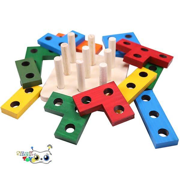 فروش بازی بلوک ساختنی مونتسوری