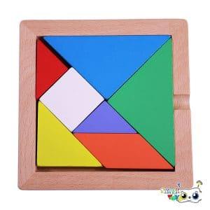 بازی فکری تنگرام چوبی مدل ViVi Wood
